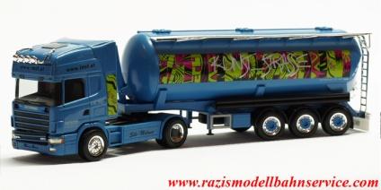 Herpa LKW Scania R Highl Rundmulden-SZ Betonpumpen Weber 936682